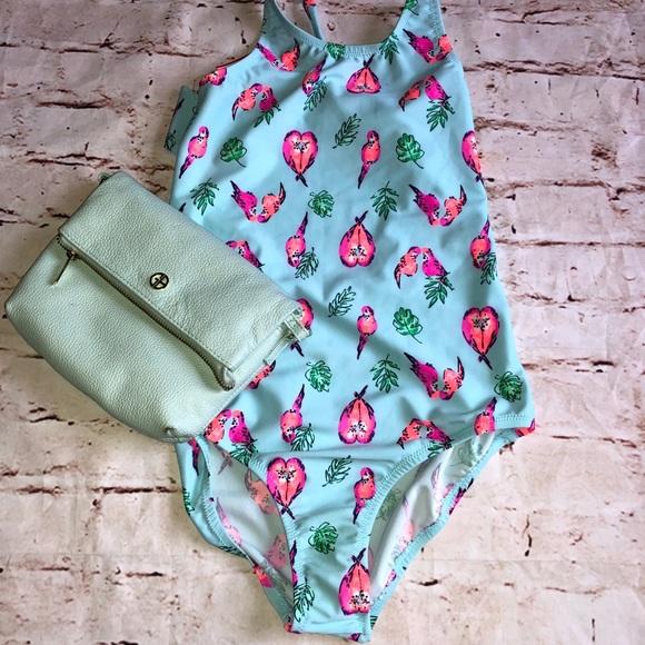 OshKosh B'gosh Other - Oshkosh 1 piece swimsuit size 14 youth love birds
